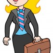 Smiling businesswoman — Stock Vector