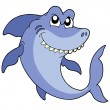 Smiling shark vector illustration - Stock Vector
