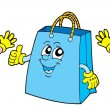 Smiling shopping bags - Stock Vector