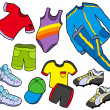 Stock Vector: Sport clothes collection