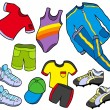 Sport clothes collection — Stock Vector #2260826