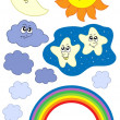 Royalty-Free Stock Imagen vectorial: Sun Moon and weather collection