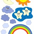 Sun Moon and weather collection - Stock Vector