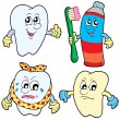 Royalty-Free Stock Vector Image: Tooth collection 1