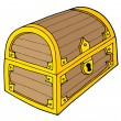 Stock vektor: Treasure chest vector illustration
