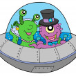 Stock Vector: UFO wedding