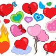 Valentine hearts collection 1 — Stock Vector