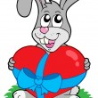 Valentine rabbit with heart — Stock Vector #2261143