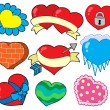 Stock Vector: Valentine hearts collection 2