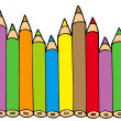 Various colors pencils — Stockvectorbeeld