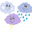 Various cute clouds vector illustration — Stock Vector #2261271