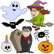 Stock Vector: Various Halloween images 1