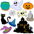 Royalty-Free Stock Vectorafbeeldingen: Various Halloween images 2