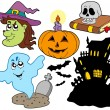 Stock Vector: Various Halloween images 4