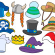 Various hats collection - Stock Vector