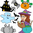 Stock Vector: Various Halloween images 5