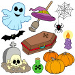 Various Halloween images 3 — Stock Vector