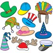 Vector de stock : Various hats collection 2