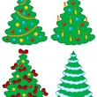 Various Christmas trees — Stock Vector #2261393