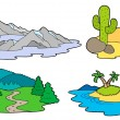 Various landscapes collection — Stock Vector