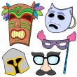 Stock Vector: Various masks collection 2