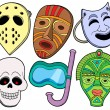 Various masks collection 1 — Stock Vector #2261429