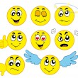 Stock Vector: Various smileys 1