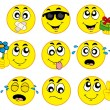 Various smileys 2 — Vettoriali Stock
