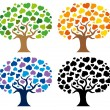 Various trees silhouettes — Stock Vector #2261496