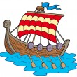 Viking boat — Stock Vector #2261523