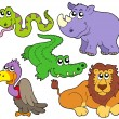 Royalty-Free Stock Vector Image: Wildlife cute animals collection