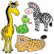 Stock Vector: Zoo animals collection 2