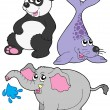 Royalty-Free Stock Imagen vectorial: ZOO animals collection 3