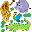 ZOO animals collection 5 — Stock Vector