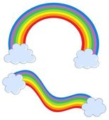 Rainbows with clouds — Stock Vector