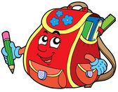 Red school bag — Stock Vector