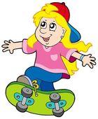 Skateboarding girl — Stock Vector