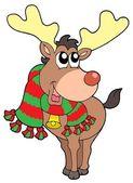 Smiling Christmas elk — Stock Vector