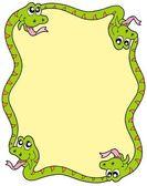 蛇フレーム 3 — ストックベクタ
