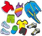 Sport clothes collection — Stock Vector