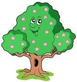 Spring tree in bloom — Stock Vector