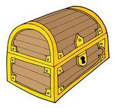 Ilustracja wektorowa skrzynia skarbów — Wektor stockowy