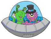 UFO wedding — Stock Vector