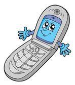 V cell phone open vector illustration — Stock Vector