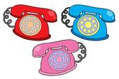 Various colors telephones — Stock Vector