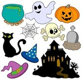 Various Halloween images 2 — Stock Vector