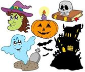 Various Halloween images 4 — Stock Vector