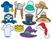 Various hats collection — Stock Vector