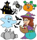 Various Halloween images 5 — Stock Vector