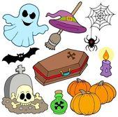 Various Halloween images 3 — Stock Vector